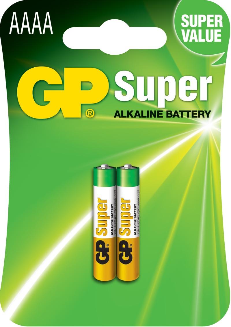 GP AAAA Super Alkaline batterier / LR61