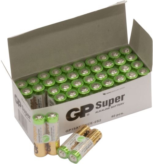 Billede af 40 stk. GP AA Super Alkaline batterier
