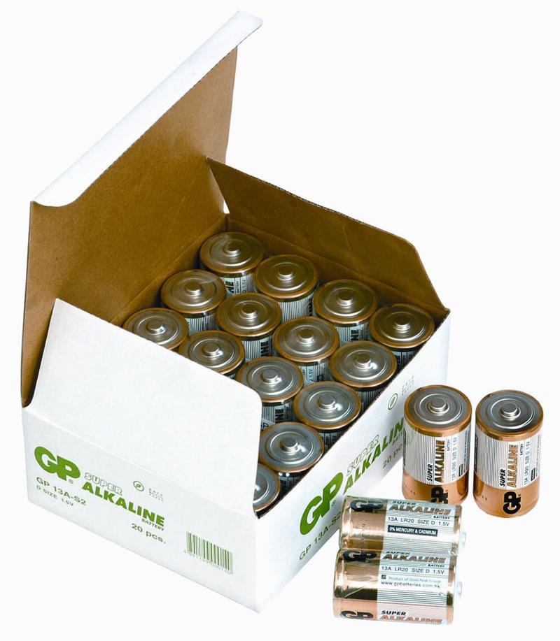 Billede af 20 stk. GP D Super Alkaline batterier / LR20