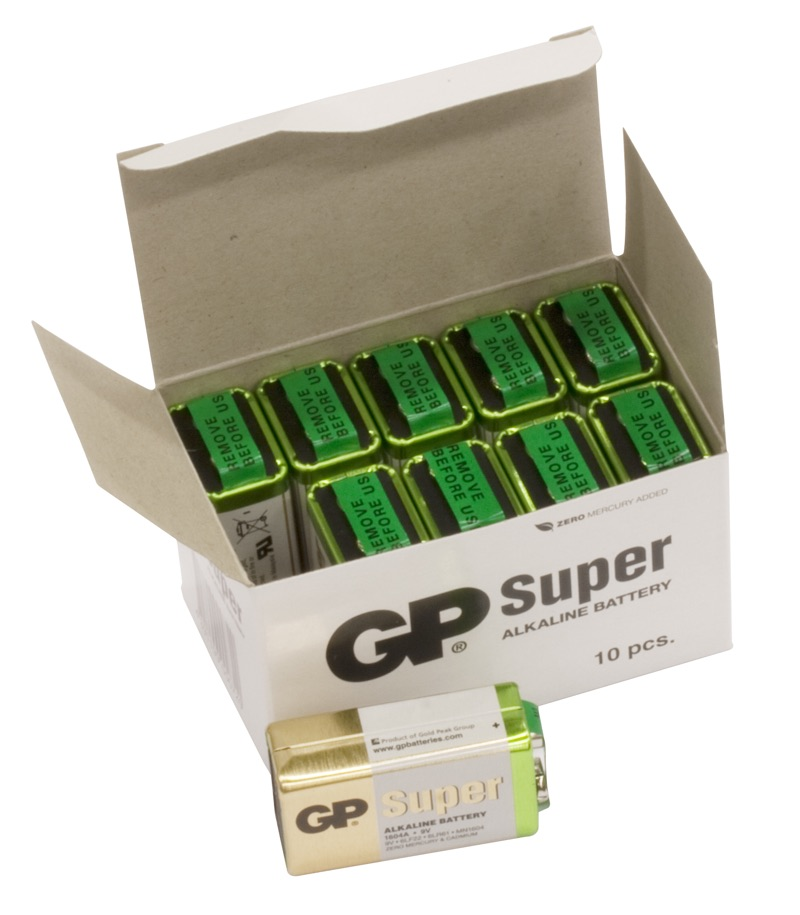 Image of   10 stk. GP 9V Super Alkaline batterier