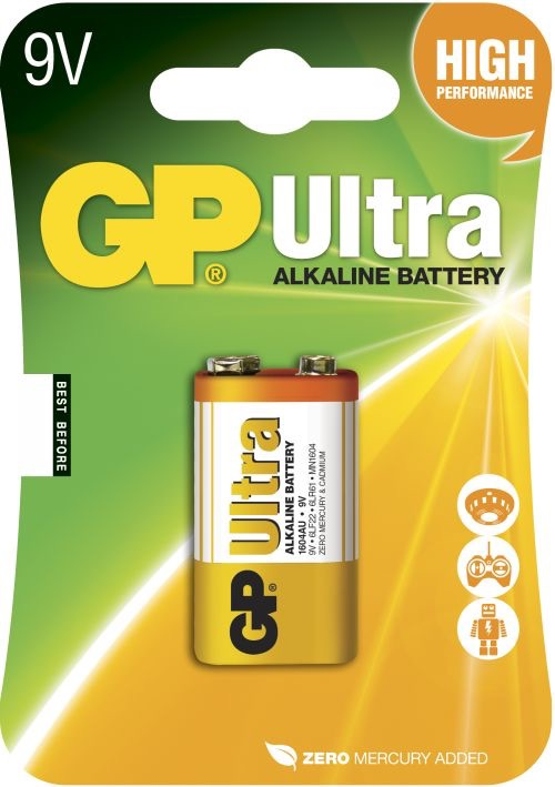 GP 9 V Ultra batteri