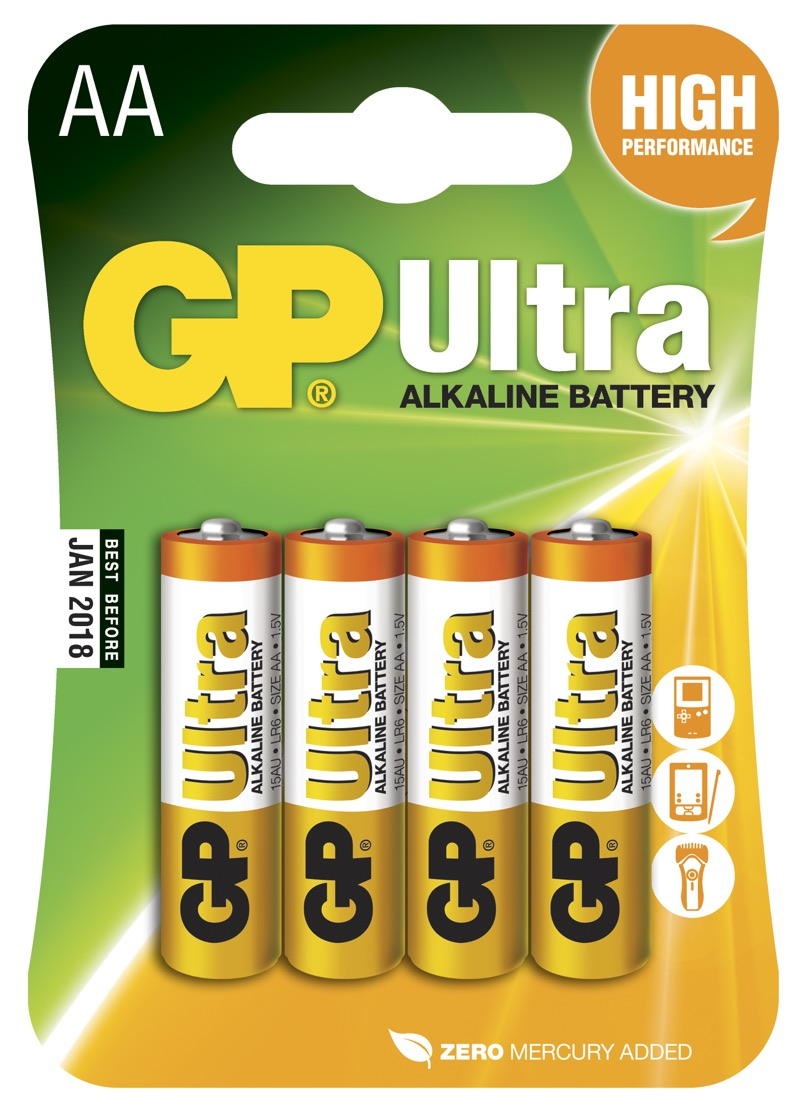 GP AA Ultra batterier / LR6 / R6