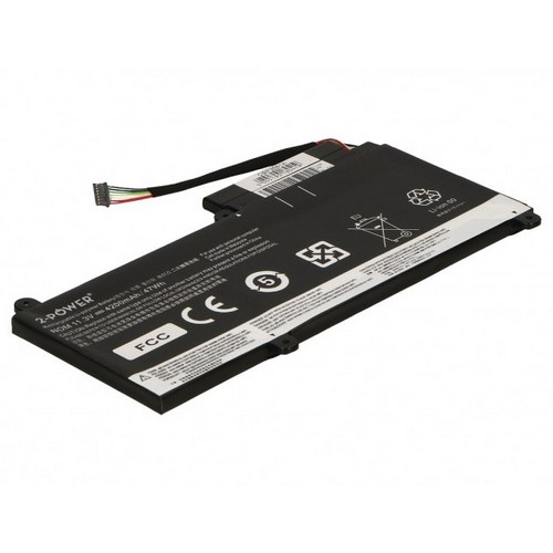 Image of   2-Power batteri til bl.a. Lenovo ThinkPad E450 - 4200mAh
