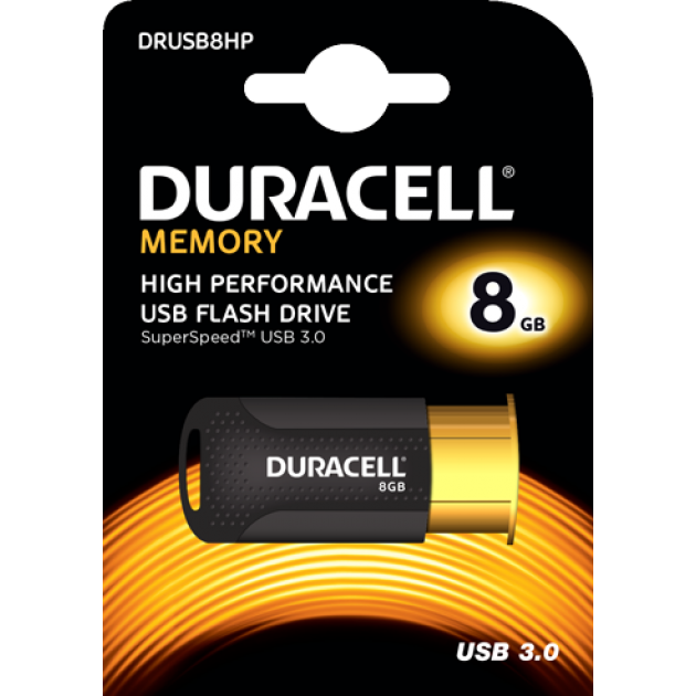 Image of   Duracell USB stik 8GB
