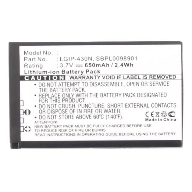 Billede af LGIP-430N Batteri til LG G320 / 990G (Kompatibelt) 650 mAh