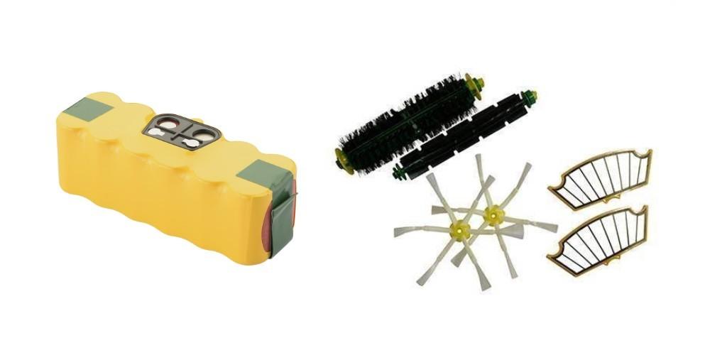 Sampak Roomba batteri + reservedels kit (500 serien)
