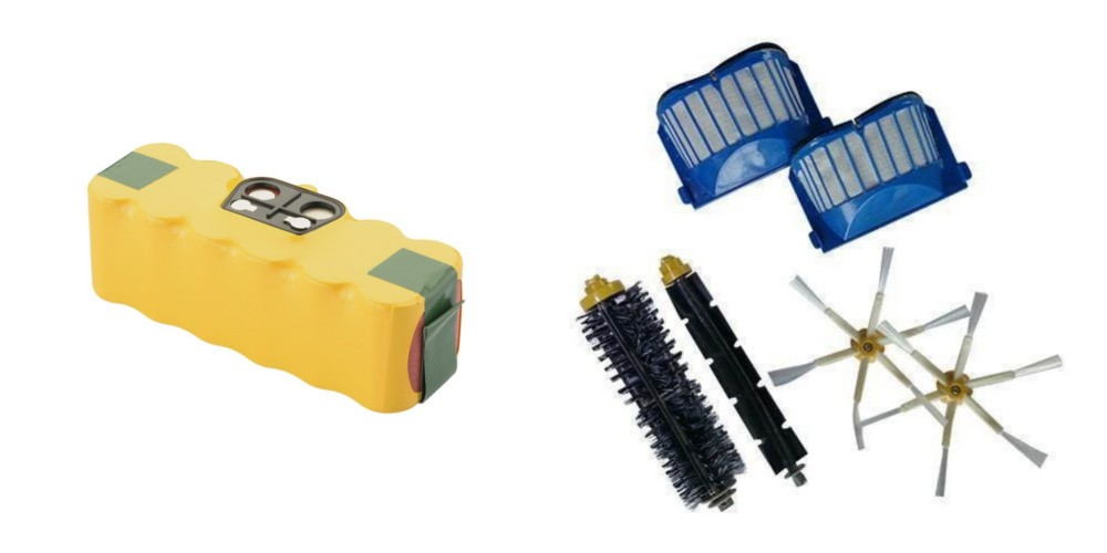 Sampak Roomba batteri + reservedels kit-6 arm (600 serien)