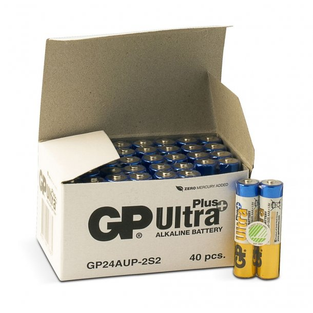 40 stk. GP AAA Ultra Plus batterier / LR03 / LR3