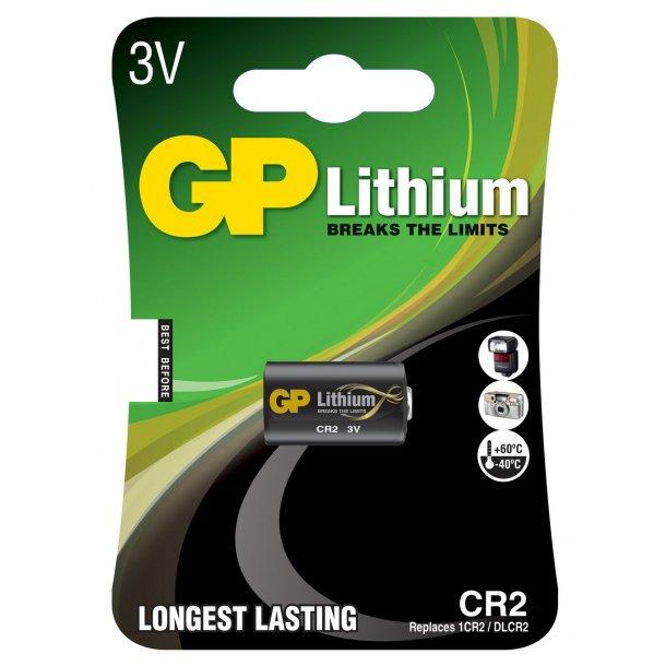 CR2 Lithium PRO 3 Volt batteri