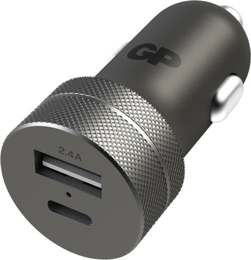 Image of Biladapter med både USB og Type C-udgang