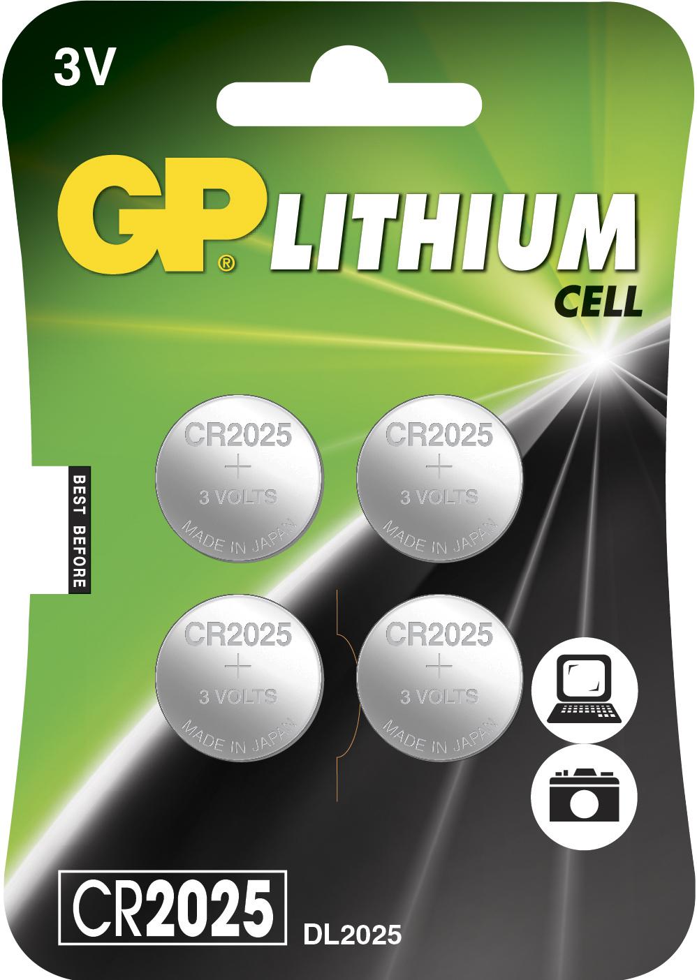Image of 4 stk. CR 2025 3 Volt Lithium