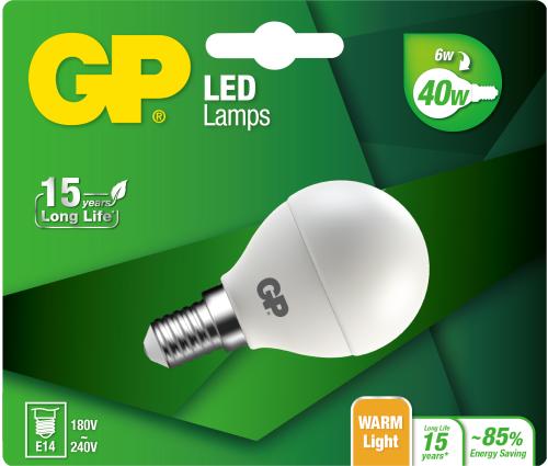 Billede af Mini Globe LED pære, 6W (40W), E14