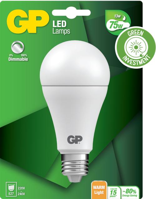 Classic LED dæmpbar pære, 13W (75W), E27