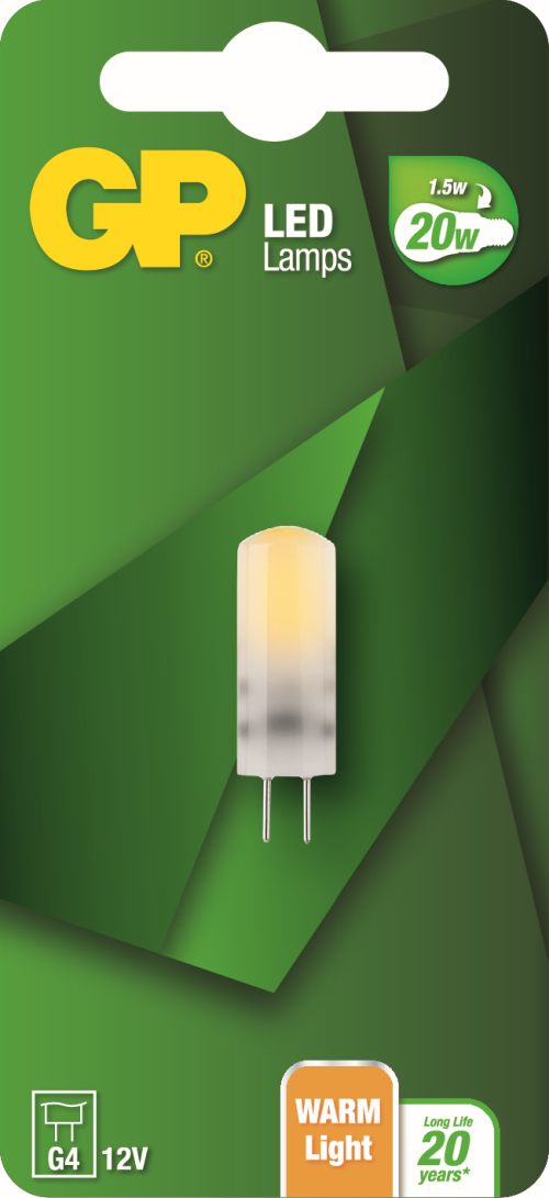 Stiftpære LED pære, 1,5W (20W), G4, 12V