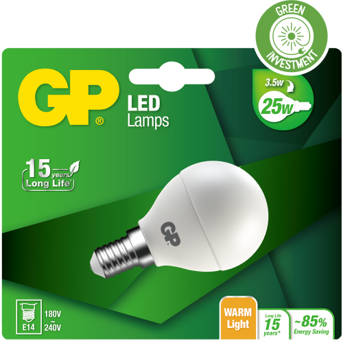 Mini Globe LED pære, 3,5W (25W), E27