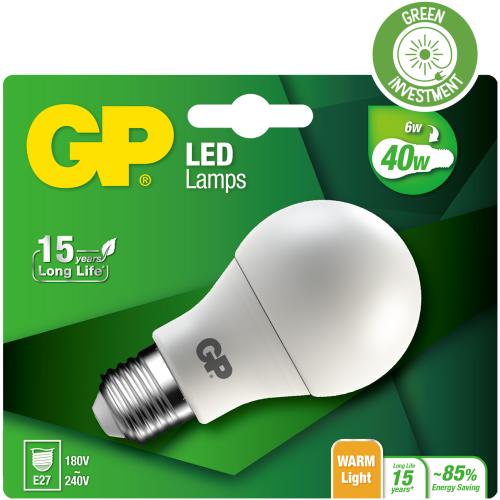Billede af Classic LED pære, 5,3W (40W), E27