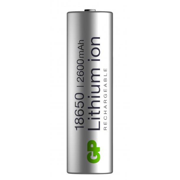 GP 18650 Li-ion-batteri, 2600 mAh