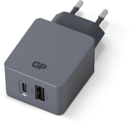 Billede af GP Væglader WA51, USB-A + USB-C